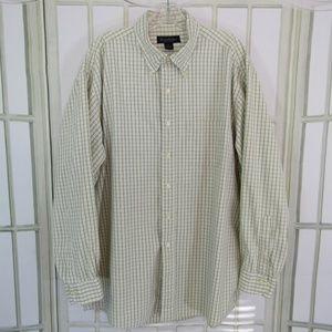 Brooks Brothers men's XL green plaid shirt long sl
